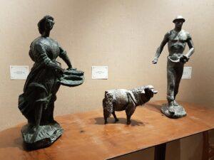 Biancini -Pescivendola, capra e seminatore
